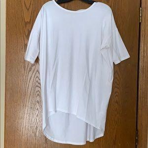 Lularoe Irma tunic   white   size Small